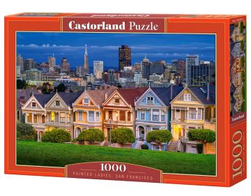 Painted Ladies,San Francisco - Puzzle - 1000 Teile · CAS 1037512 ·  Castorland