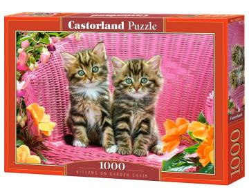 Kittens on Garden Chair - Puzzle - 1000 Teile · CAS 1037752 ·  Castorland
