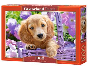 Puppy in Basket - Puzzle - 1000 Teile · CAS 1037992 ·  Castorland