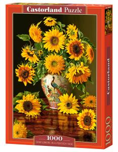 Sunflowers in a Peacock Vase - Puzzle - 1000 Teile · CAS 1038432 ·  Castorland