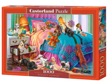 Naughty Puppies - Puzzle - 1000 Teile · CAS 1044752 ·  Castorland