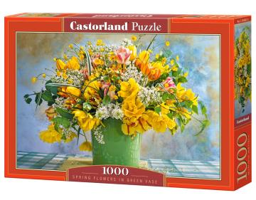 Spring Flowers in Green Vase - Puzzle - 1000 Teile · CAS 1045672 ·  Castorland