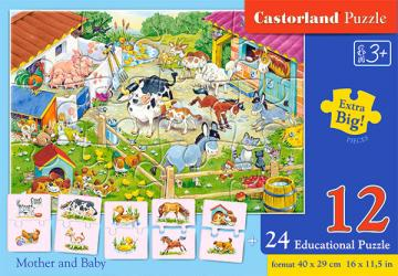 Mother and Baby, Puzzle 12+24 Teile · CAS 111 ·  Castorland