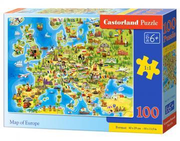 Map of Europe - Puzzle - 100 Teile · CAS 111060 ·  Castorland