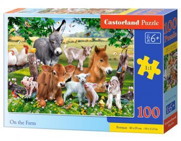On the Farm - Puzzle - 100 Teile · CAS 111138 ·  Castorland