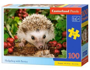 Hedgehog with Berries - Puzzle - 100 Teile · CAS 111145 ·  Castorland