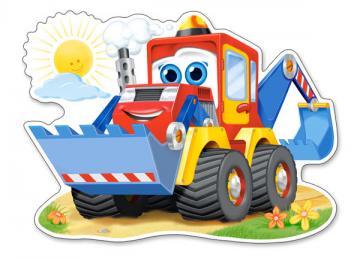 Funny Digger,Puzzle 12 Teile maxi · CAS 120024 ·  Castorland