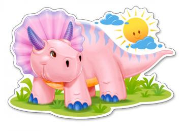 Pink Baby Triceratops,Puzzle 12 Teile ma · CAS 120048 ·  Castorland
