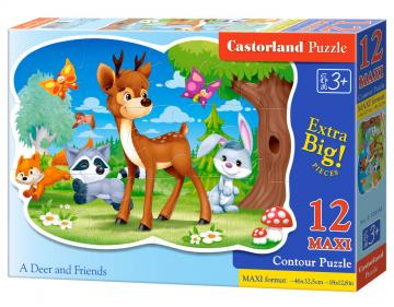 A Deer and Friends - Puzzle - 12 Teile maxi · CAS 120154 ·  Castorland
