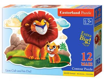 Lion Cub and his Dad - Puzzle - 12 Teile maxi · CAS 120161 ·  Castorland