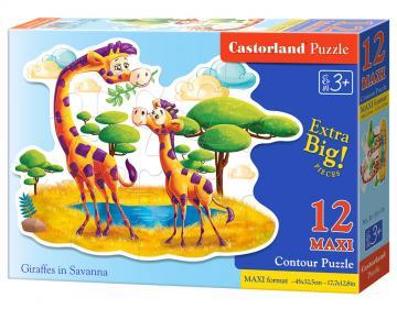Giraffes in Savanna - Puzzle - 12 Teile maxi · CAS 120178 ·  Castorland