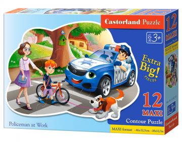 Policeman at Work - Puzzle - 12 Teile maxi · CAS 120215 ·  Castorland
