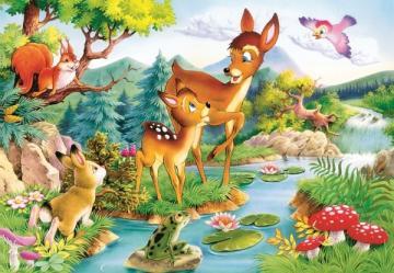 Little deers,Puzzle 120 Teile · CAS 127251 ·  Castorland