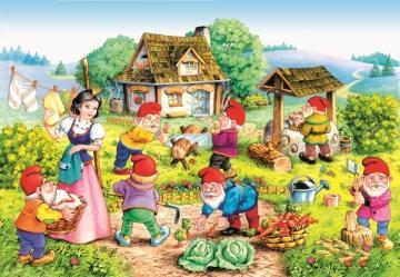 Snow White a.the Seven Dwarfs,Puzzle 120 · CAS 127491 ·  Castorland