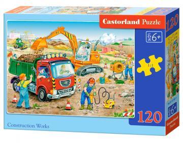 Construction Works - Puzzle - 120 Teile · CAS 131801 ·  Castorland