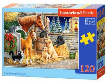 Gathering Friends - Puzzle - 120 Teile · CAS 133401 ·  Castorland