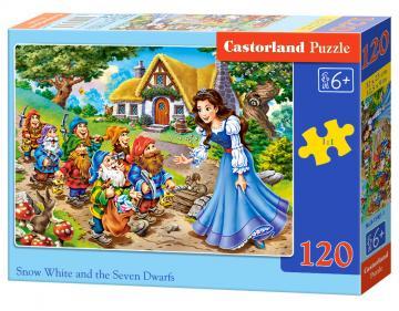 Snow White a.the Seven Dwarfs - Puzzle - 120 Teile · CAS 134011 ·  Castorland