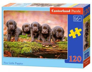 Five Little Puppies - Puzzle - 120 Teile · CAS 134181 ·  Castorland