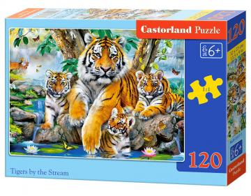Tigers by the Stream - Puzzle - 120 Teile · CAS 135171 ·  Castorland