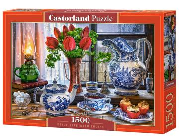 Still Life with Tulips - Puzzle - 1500 Teile · CAS 1518202 ·  Castorland