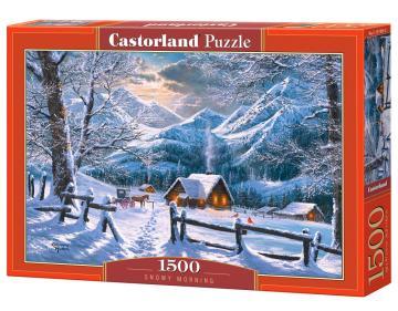 Snowy Morning - Puzzle - 1500 Teile · CAS 1519052 ·  Castorland