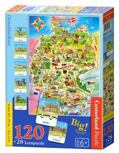 Deutschlandkarte - Puzzle - 120 + 28 Teile · CAS 180 ·  Castorland