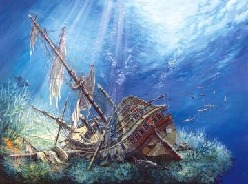 Sunk Galleon,Puzzle 2000 Teile · CAS 2002522 ·  Castorland