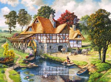 Water Mill Cottage,Puzzle 2000 Teile · CAS 2004982 ·  Castorland