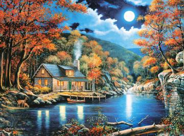 Cabin by the Lake,Puzzle 2000 Teile · CAS 2005042 ·  Castorland