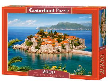 Sveti Stefan,Montenegro - Puzzle - 2000 Teile · CAS 2005802 ·  Castorland