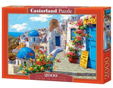 Spring in Santorini - Puzzle - 2000 Teile · CAS 2006032 ·  Castorland