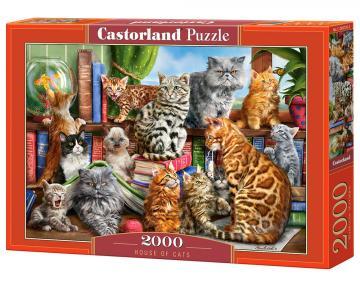 House of Cats - Puzzle - 2000 Teile · CAS 2007262 ·  Castorland