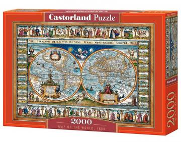Map of the world,1639 - Puzzle - 2000 Teile · CAS 2007332 ·  Castorland
