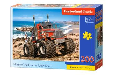Monster Truck on the Rocky Coast - Puzzle - 200 Teile · CAS 222100 ·  Castorland