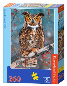 Great Horned Owl, Puzzle - 260 Teile · CAS 273471 ·  Castorland