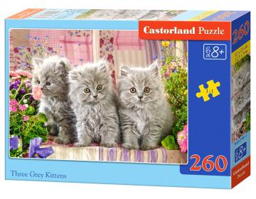 Three Grey Kittens - Puzzle - 260 Teile · CAS 274911 ·  Castorland