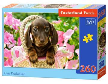 Cute Dachshund - Puzzle - 260 Teile · CAS 275141 ·  Castorland