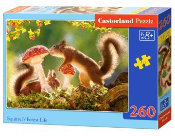 Squirrel´s Forest Life - Puzzle - 260 Teile · CAS 275211 ·  Castorland