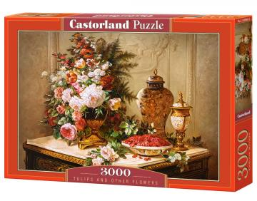 Tulips and other Flowers - Puzzle - 3000 Teile · CAS 3004882 ·  Castorland