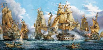 Naval Battle,Puzzle 4000 Teile · CAS 4001022 ·  Castorland