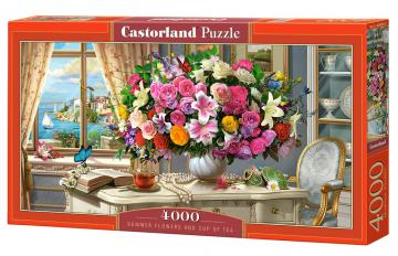 Summer Flowers and Cup of Tea - Puzzle - 4000 Teile · CAS 4002632 ·  Castorland