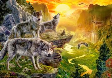 Valley of the Wolves, Puzzle 500 Teile · CAS 520732 ·  Castorland