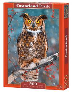 Great Horned Owl - Puzzle - 500 Teile · CAS 52387 ·  Castorland