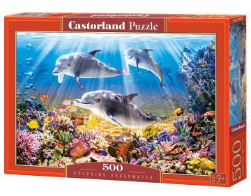 Dolphins Underwater - Puzzle - 500 Teile · CAS 52547 ·  Castorland