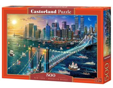 New York-Brooklyn Bridge,Puzzle 500 Teil · CAS 52646 ·  Castorland