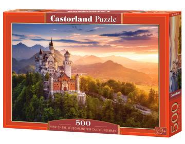 View of the Neuschwanstein Castle,German - Puzzle -  500 Teile · CAS 52752 ·  Castorland