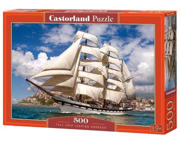 Tall Ship Leaving Harbour - Puzzle - 500 Teile · CAS 52851 ·  Castorland