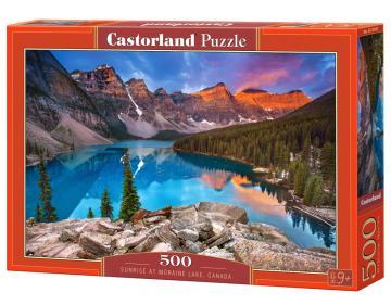 Sunrise at Moraine Lake,Canada - Puzzle - 500 Teile · CAS 53001 ·  Castorland