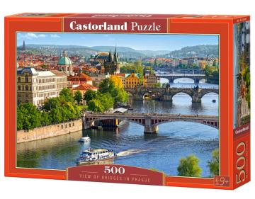 View of Bridges in Prague - Puzzle - 500 Teile · CAS 53087 ·  Castorland