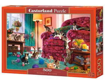Naughty Kittens - Puzzle - 500 Teile · CAS 53254 ·  Castorland